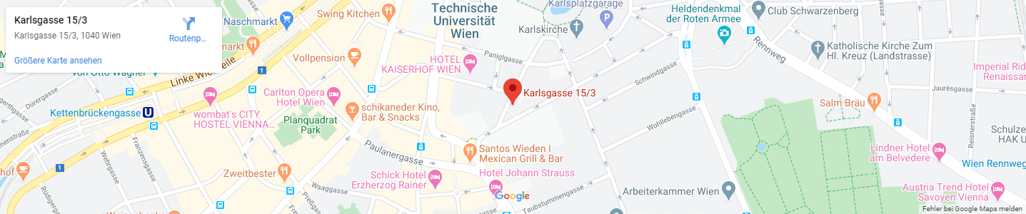 Rechtsanwalt Mag. Daniel Bauer - Google Maps - Desktop